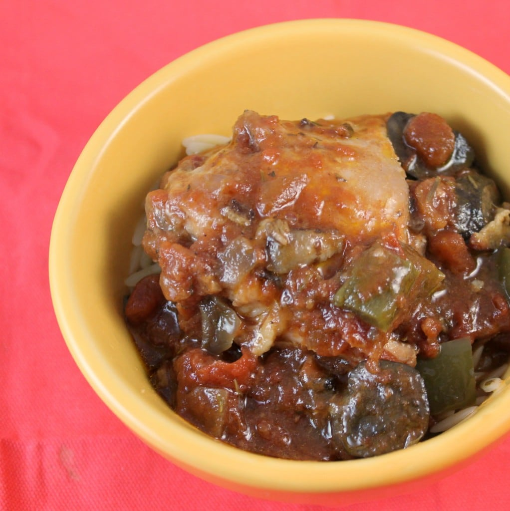 Wine and Tomato Braised Chicken Thighs