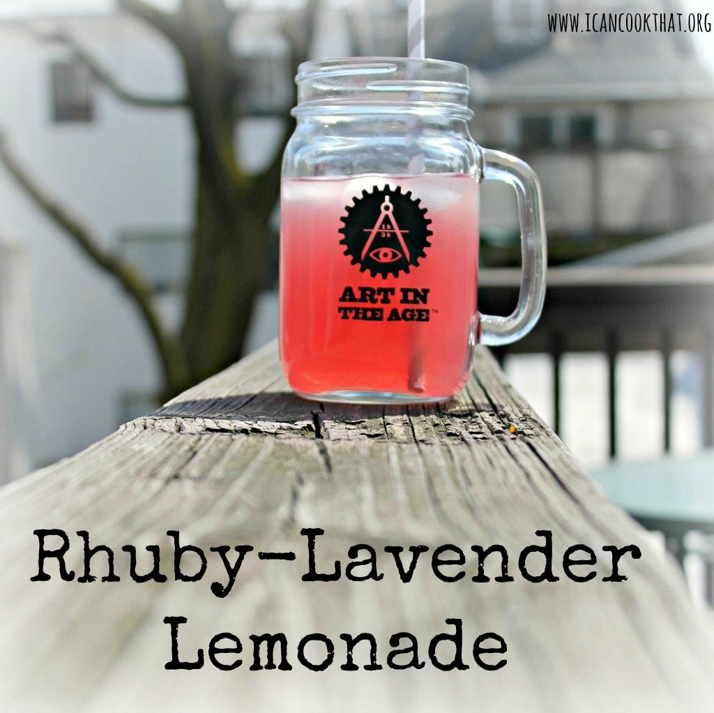 Rhuby-Lavender Lemonade