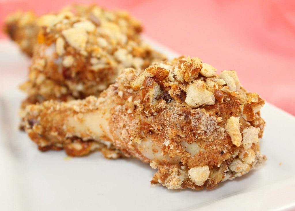 """Pretzel Crusted """"Fried"""" Chicken"""