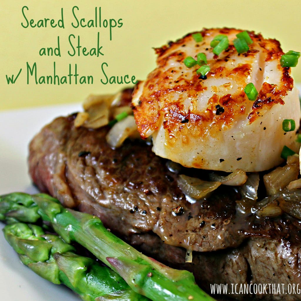 Seared Scallops Steak W Manhattan Sauce Recipe I Can Cook That