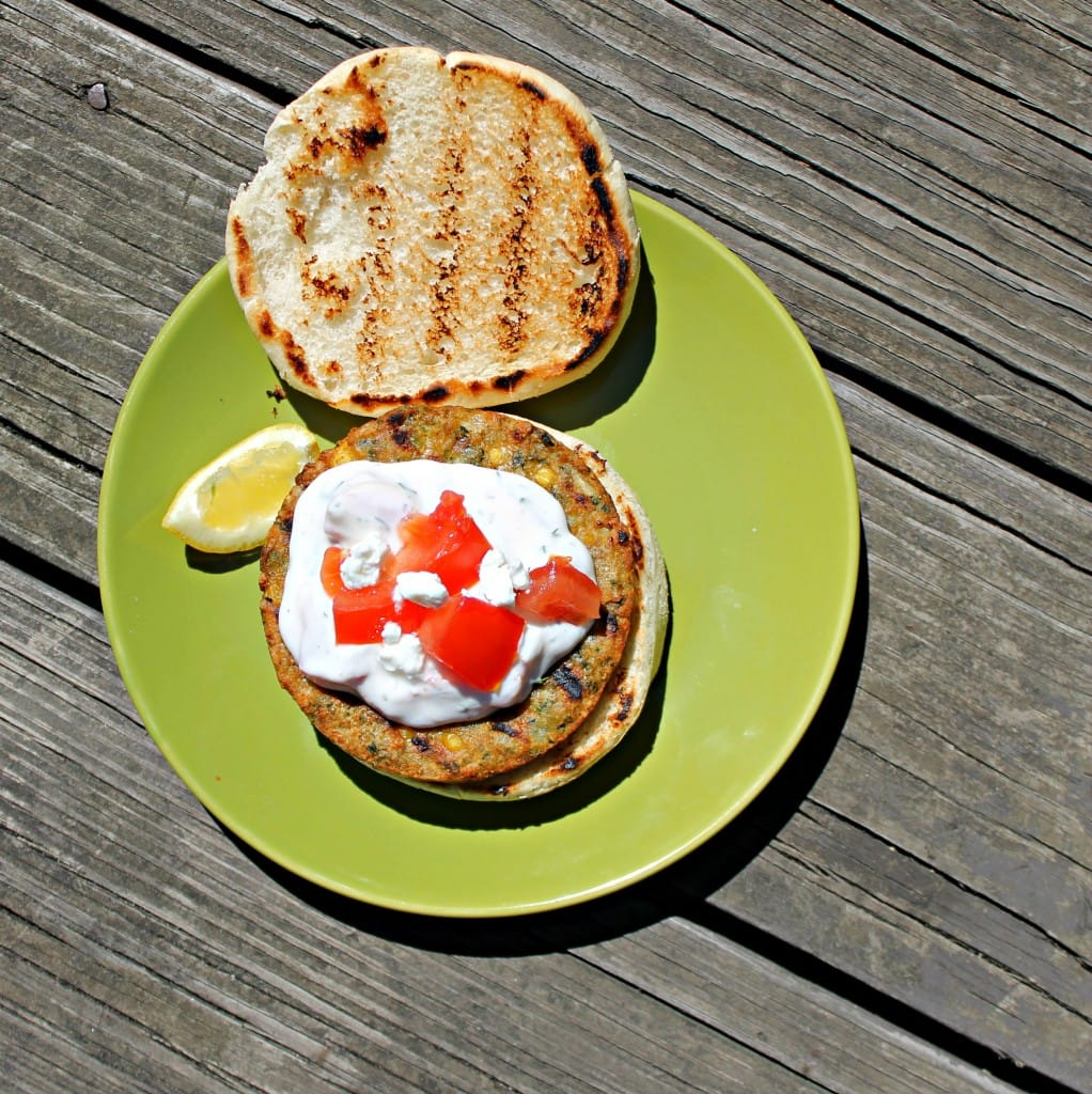 Mediterranean Chickpea Burger with Ranch Tzatziki