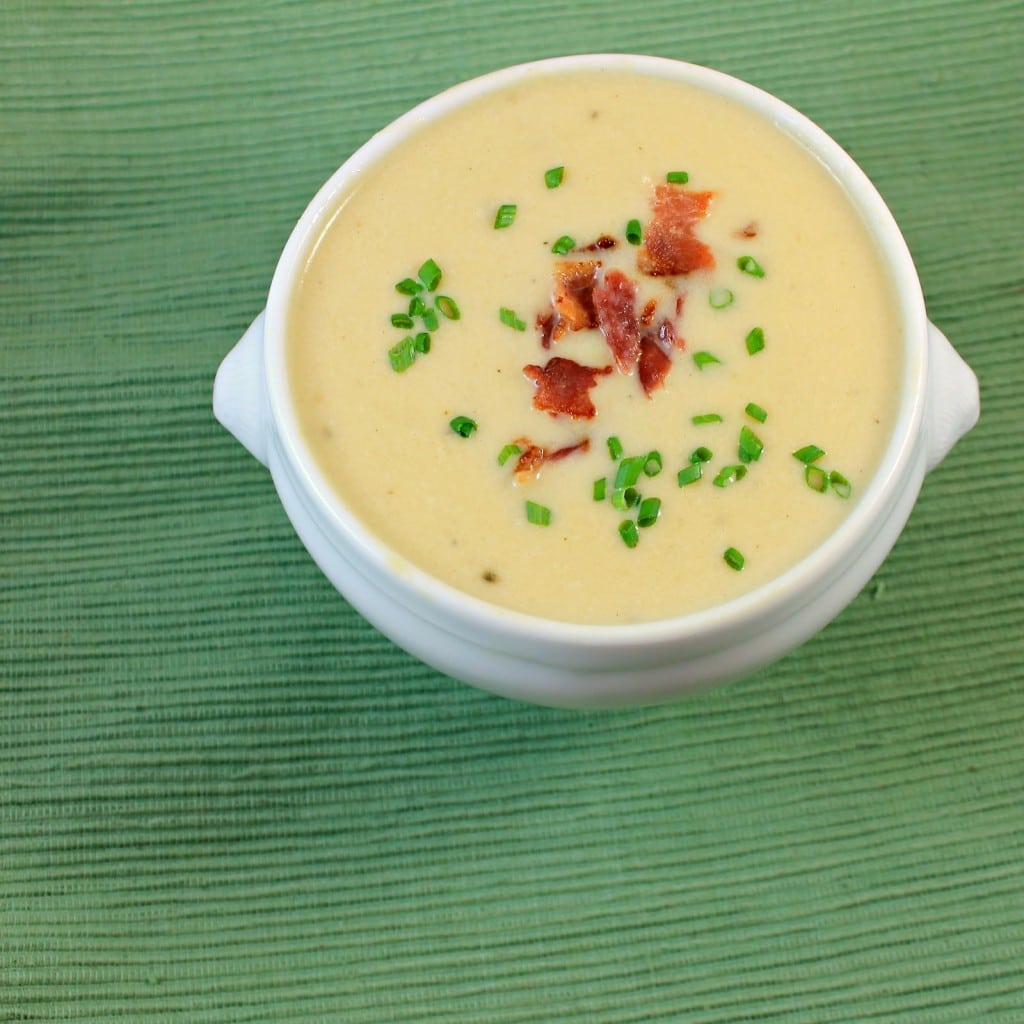 Vichyssoise (Cold Leek and Potato Soup). Soup and bacon can be made ...