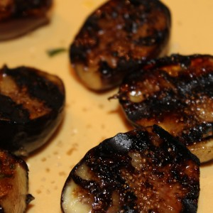When the grill is ready, add the figs cut side down. Grill until grill ...