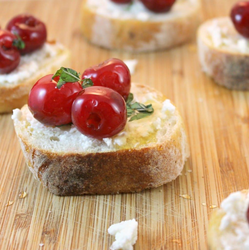 Cherry Ricotta Bruschetta