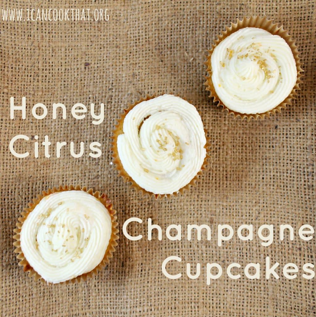Honey Citrus Champagne Cupcakes