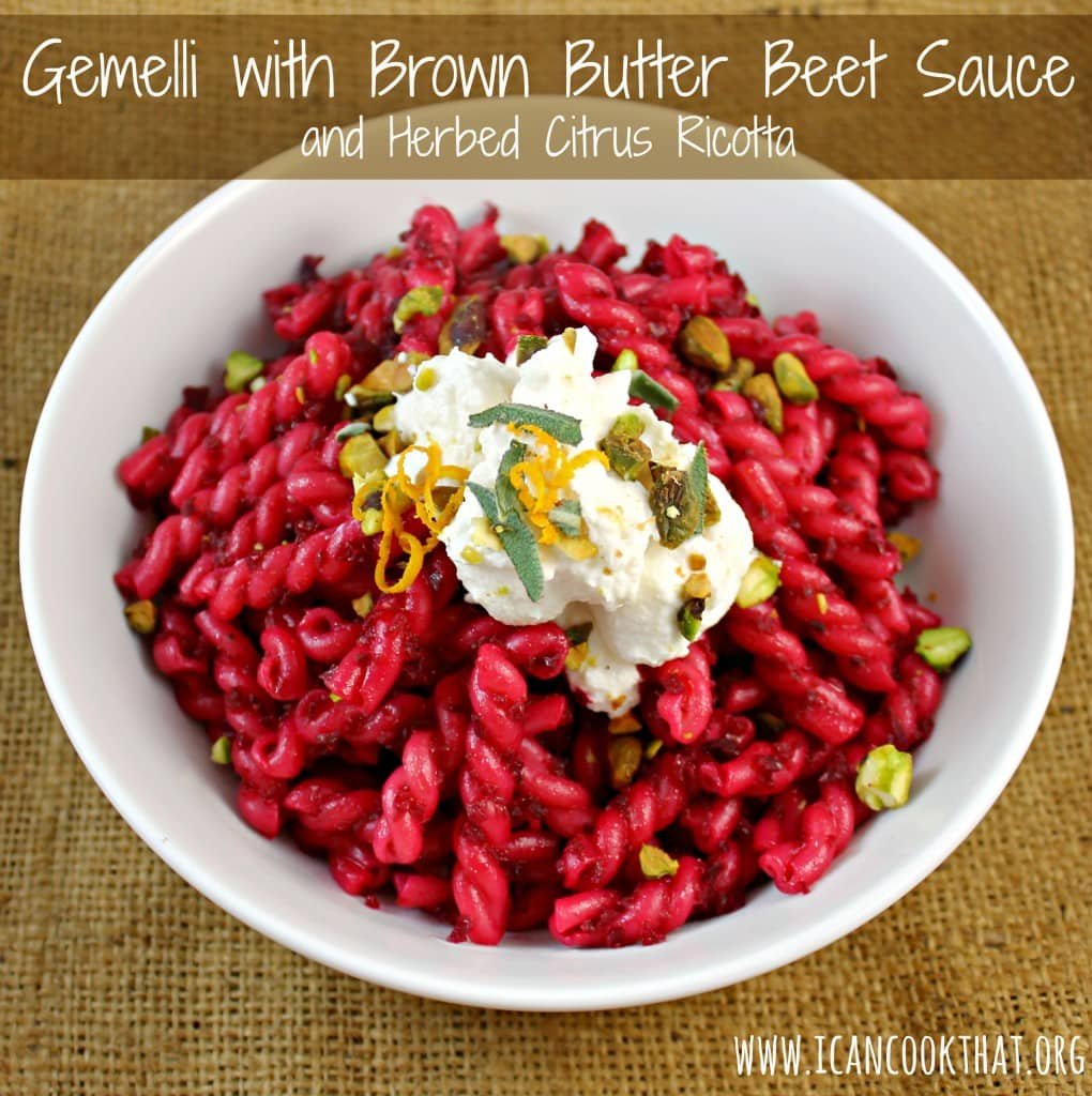 Gemelli with Brown Butter Beet Sauce
