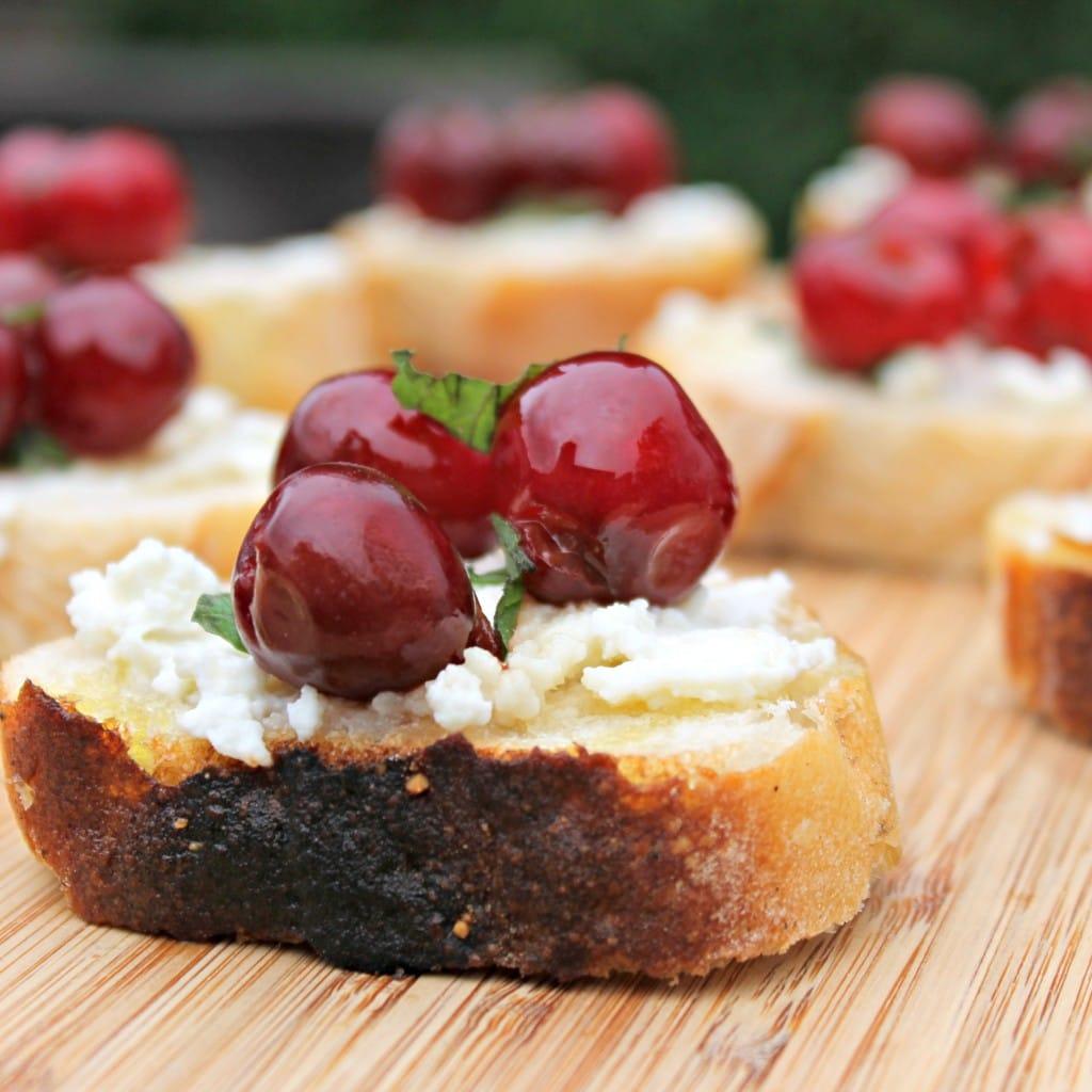 Cherry-Ricotta Bruschetta