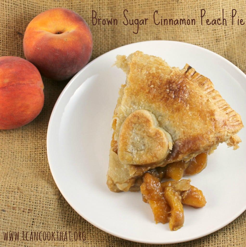 Brown Sugar Cinnamon Peach Pie