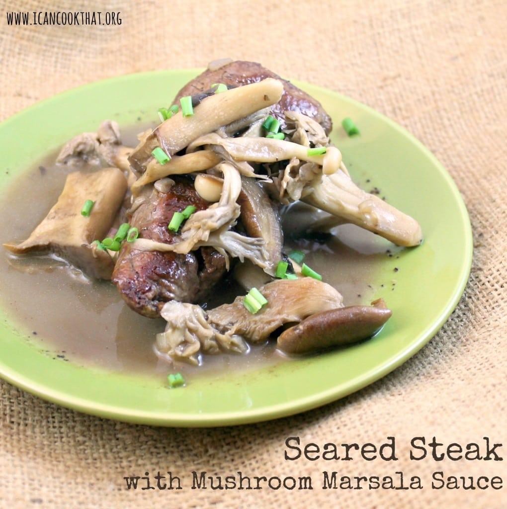 Seared Filet Tail Steak With Mushroom Marsala Sauce I