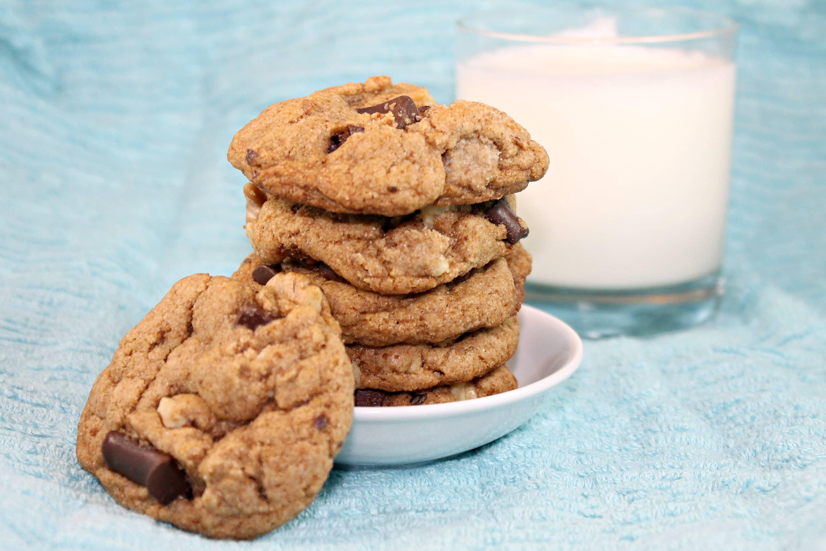 Chocolate Walnut Cookies - Vegan, Pink, & Purple! - The ...