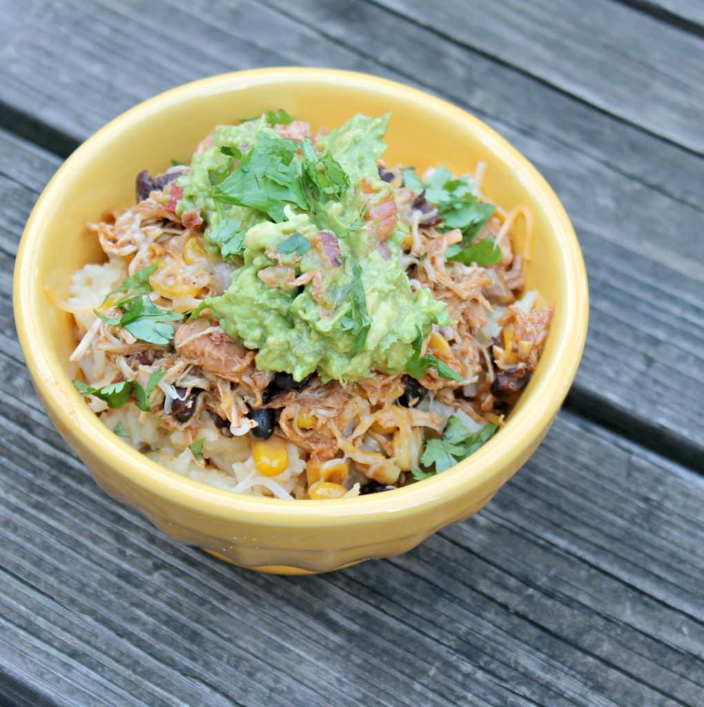 Chicken Taco Bowls with Guacamole