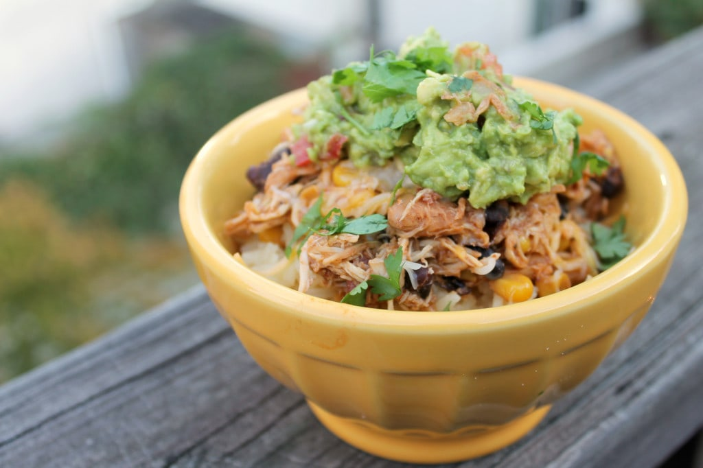 Chicken Taco Bowls with Guacamole