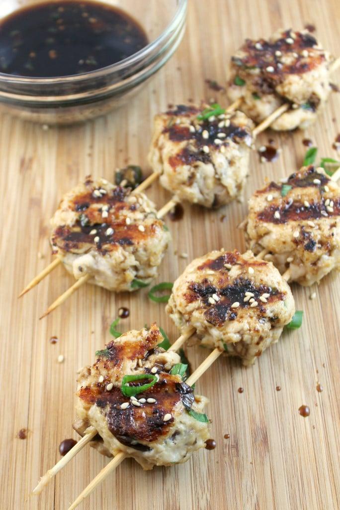 Tsukune (Japanese Chicken Meatballs)