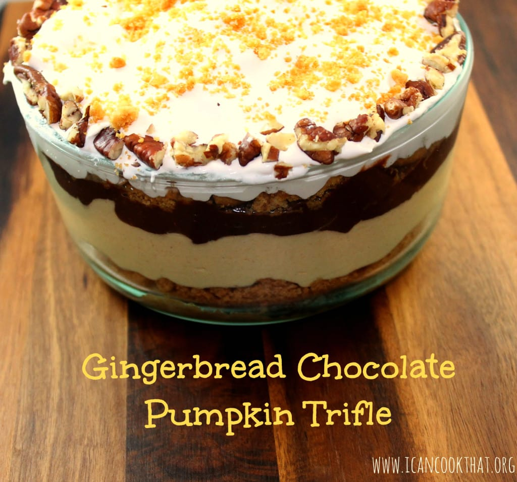 Gingerbread Chocolate Pumpkin Trifle