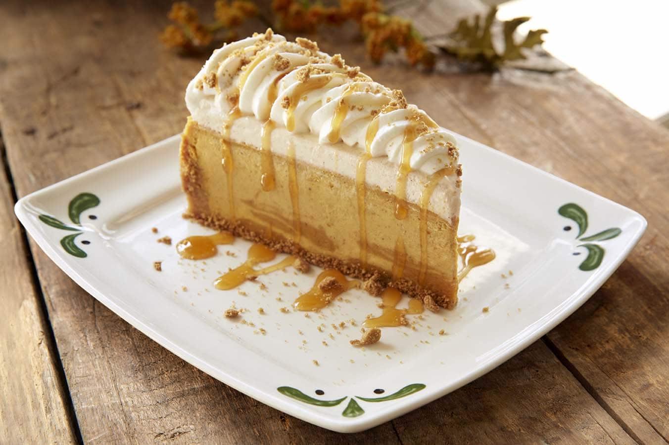 photo courtesy of darden restaurants photo courtesy of olive garden - Olive Garden Pumpkin Cheesecake