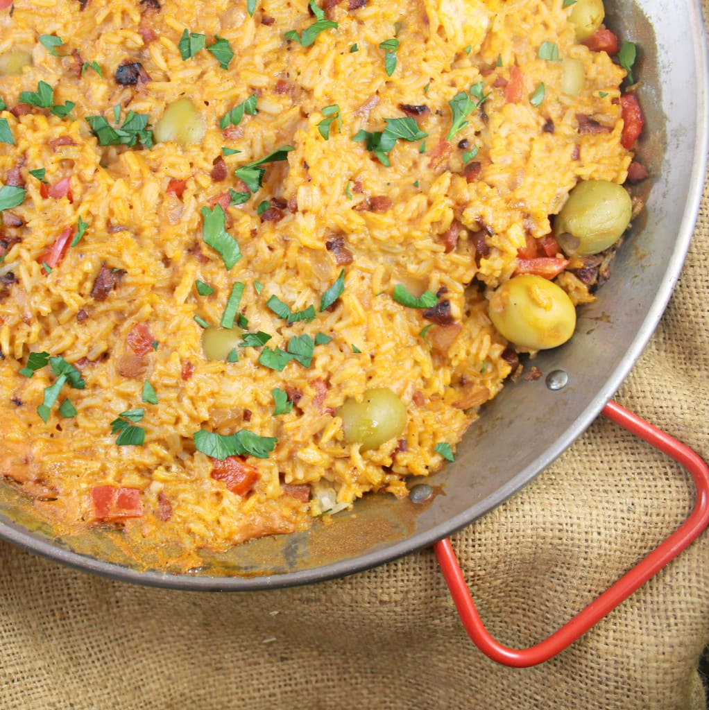 Spanish Rice with Saffron Cream