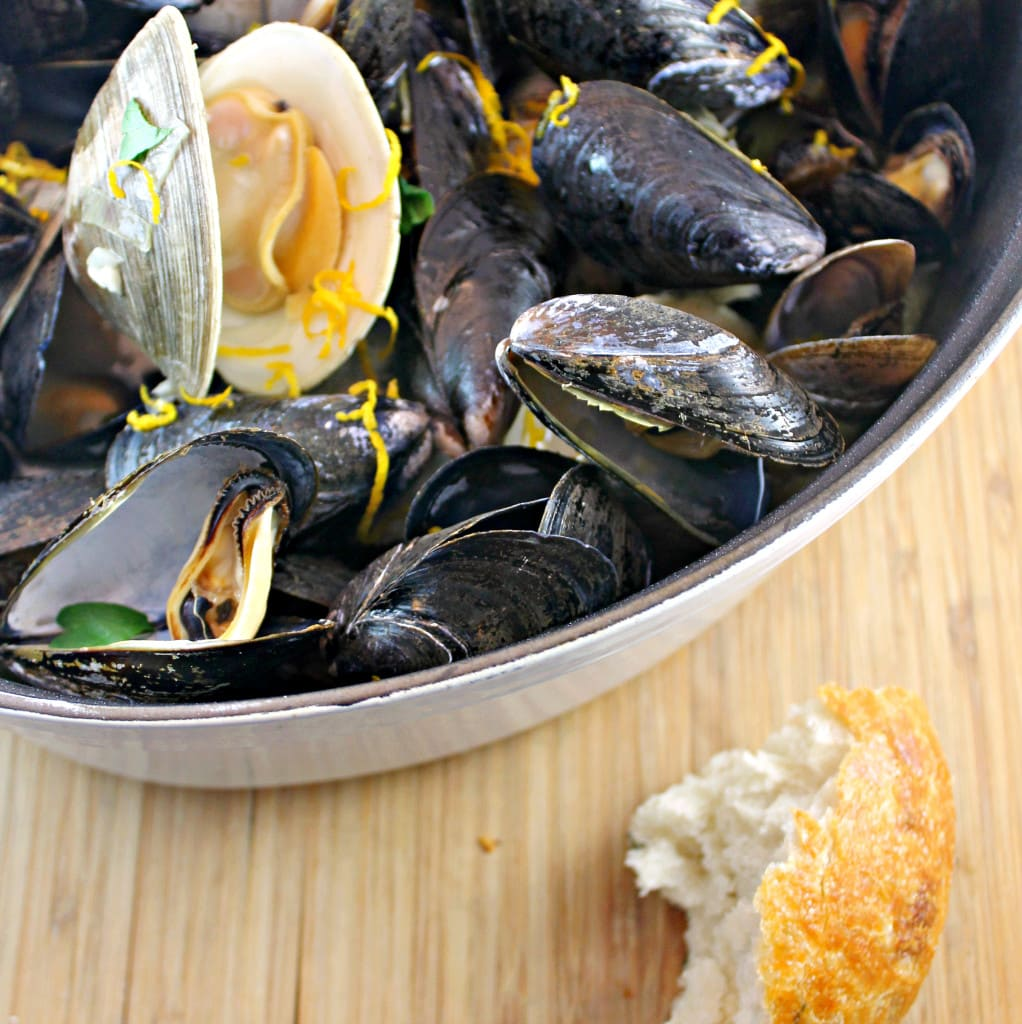 Beer-Steamed Clams & Mussels