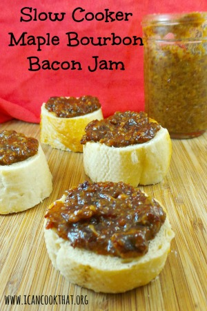 Slow Cooker Maple Bourbon Bacon Jam