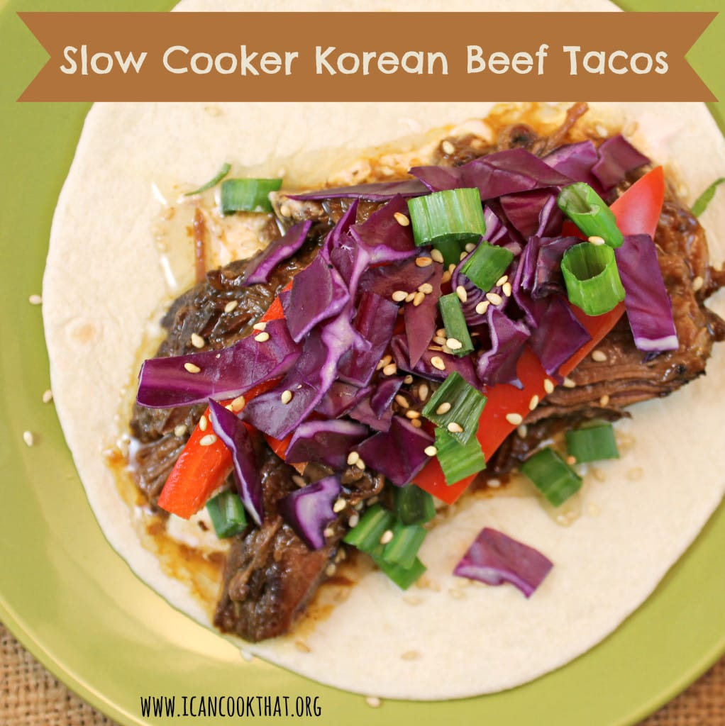 Slow Cooker Korean Beef Tacos #CampbellSauces