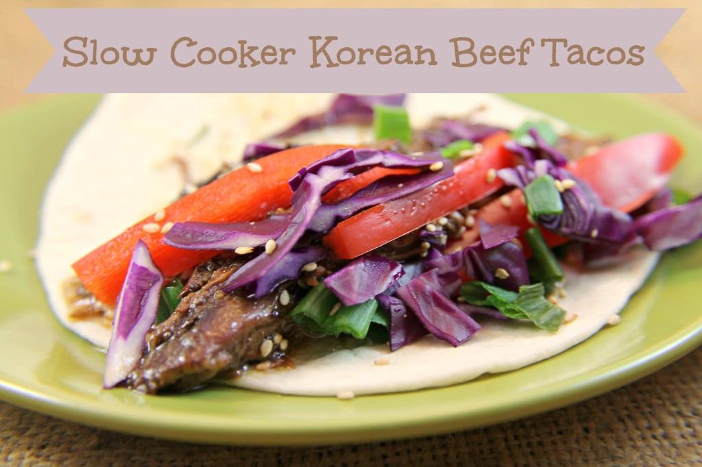 Slow Cooker Korean Beef Tacos #CampbellSauces