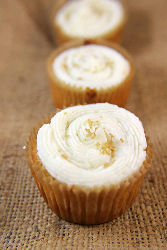 Honey Citrus Champagne Cupcakes