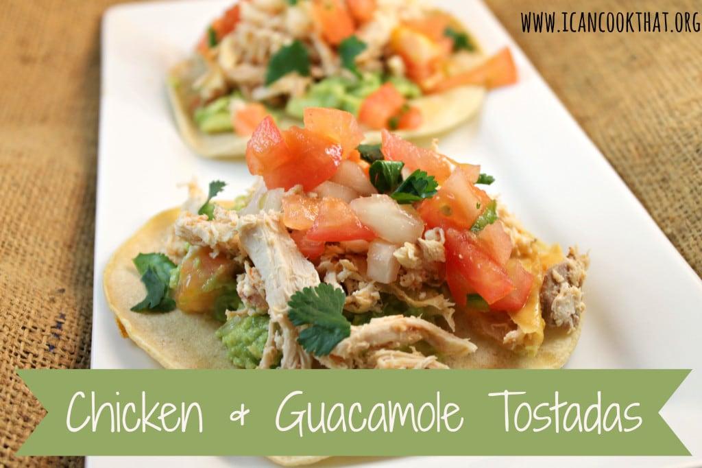 Chicken & Guacamole Tostadas