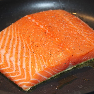 how to cook salmon fillet skin off