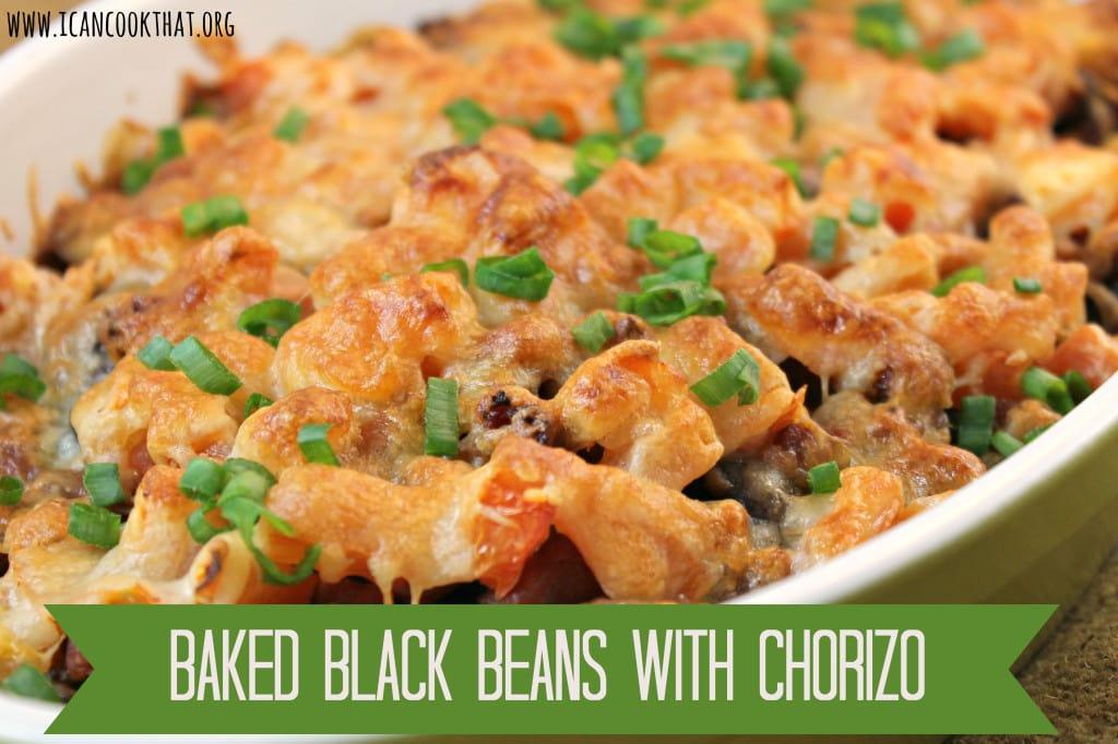 Baked Black Beans with Chorizo