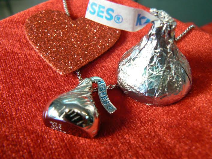 Sterling Silver Hershey Kiss necklace from Sermania Jewelry