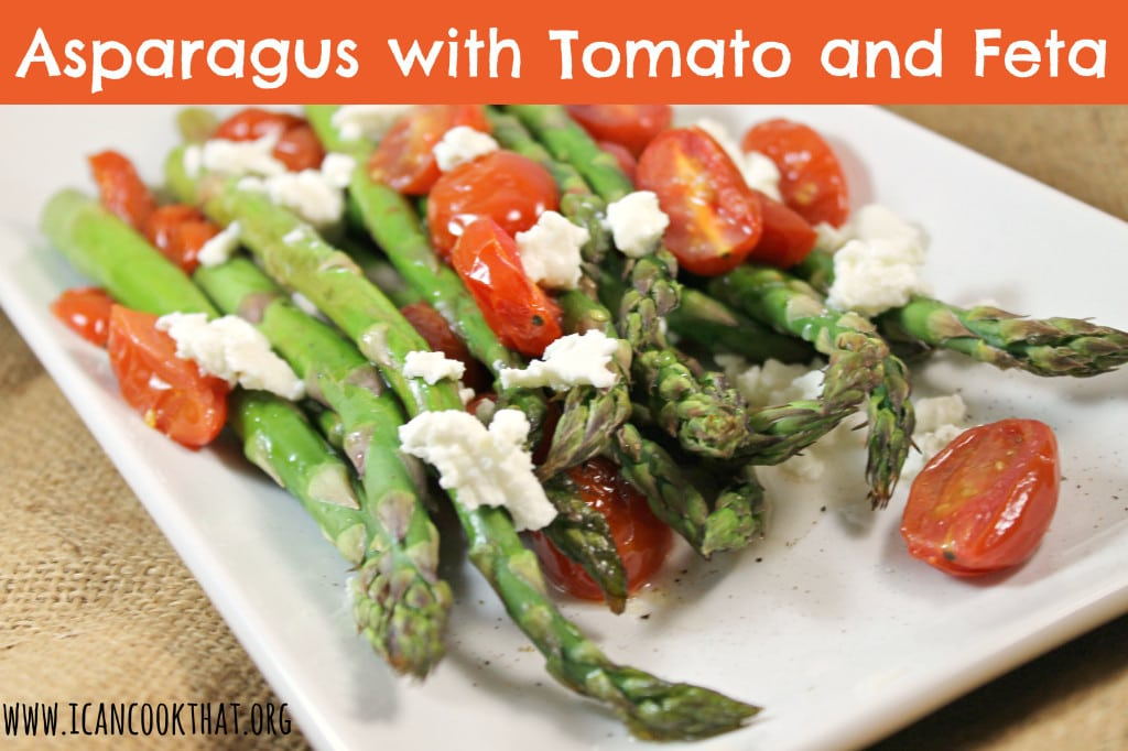 Asparagus with Tomatoes and Feta