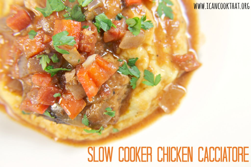 Slow Cooker Chicken Cacciatore Recipe | I Can Cook That | I Can Cook ...