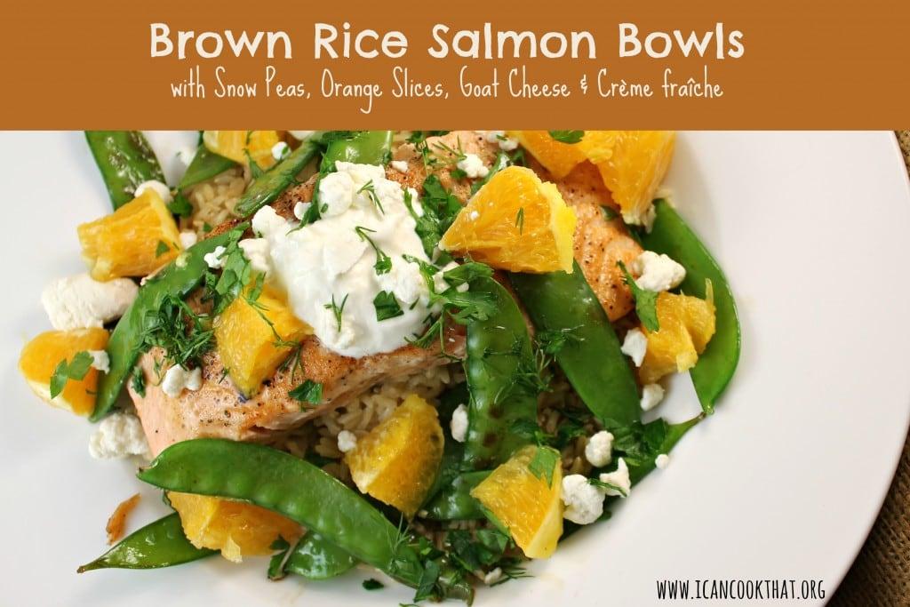 Brown Rice Salmon Bowls