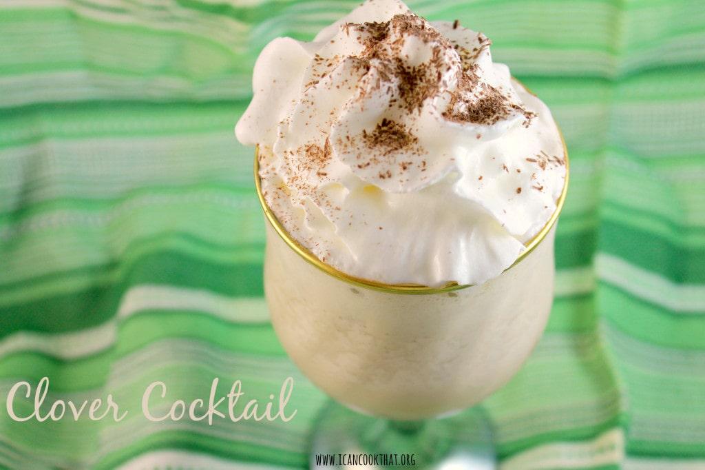 Frozen Clover Cocktail