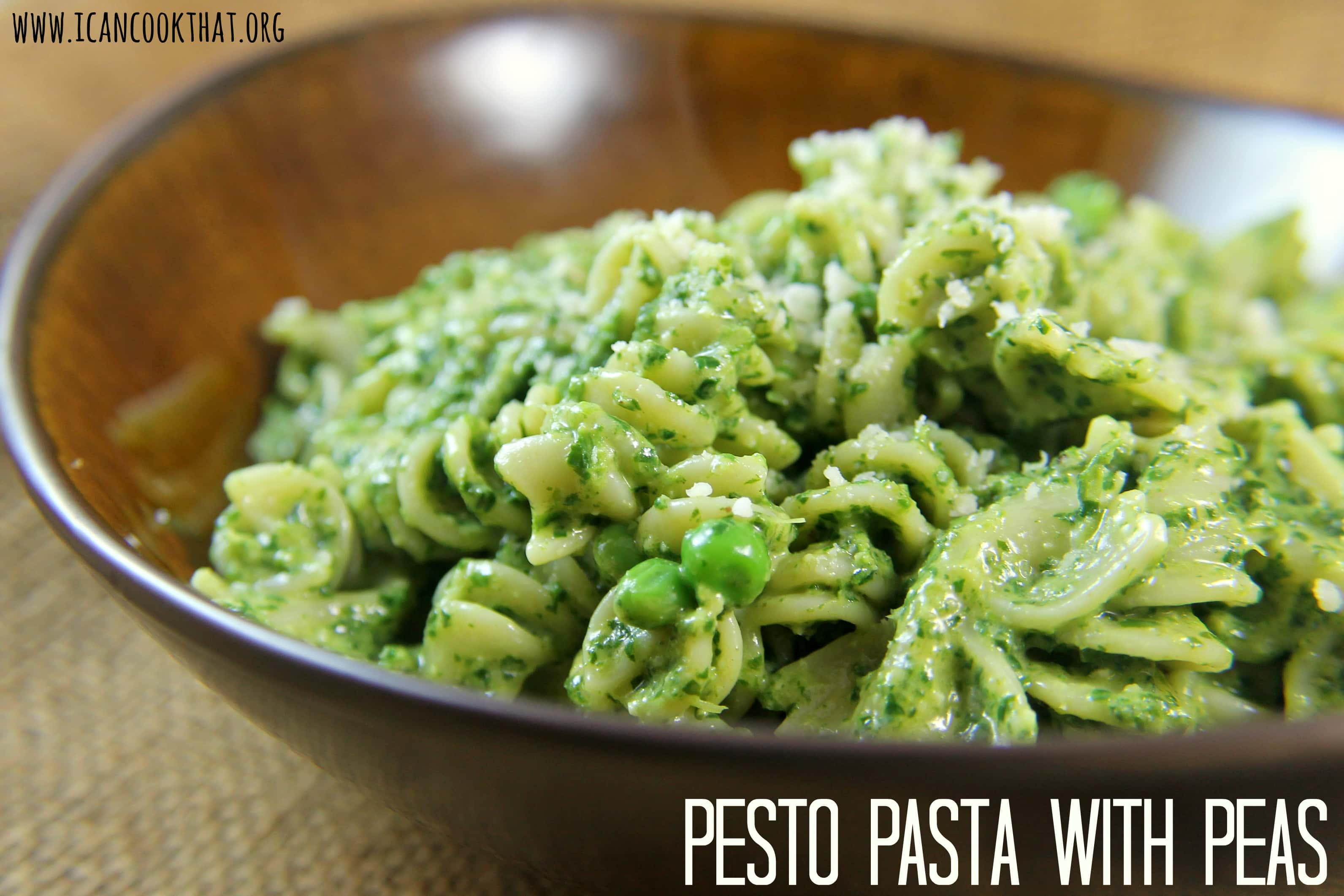Pesto Pasta with Peas Recipe | I Can Cook That | I Can Cook That
