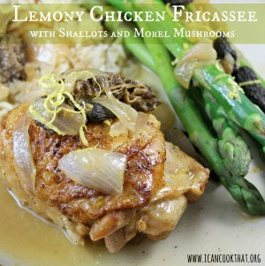 Lemony Chicken Fricassee with Shallots and Morel Mushrooms