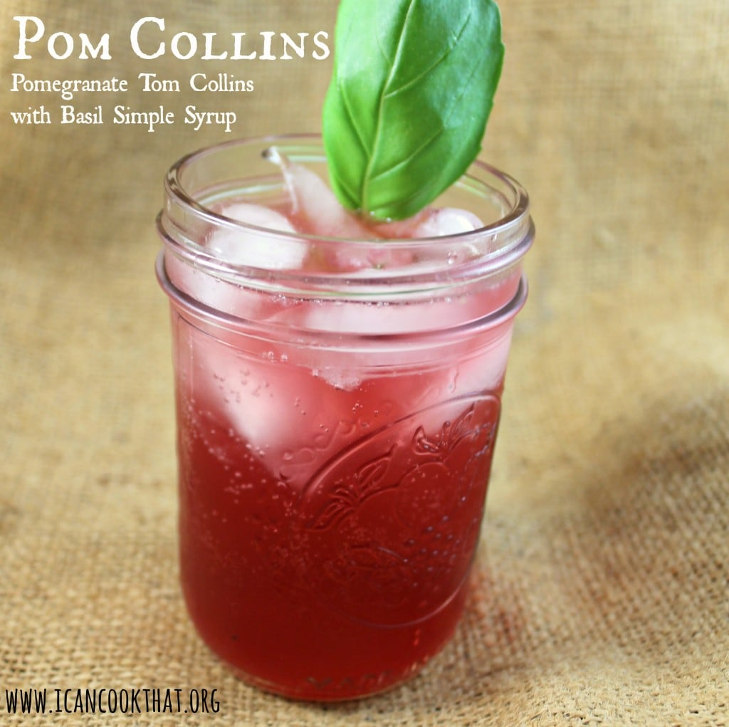Pomegranate Tom Collins (Pom Collins) Cocktail Recipe | I Can Cook ...
