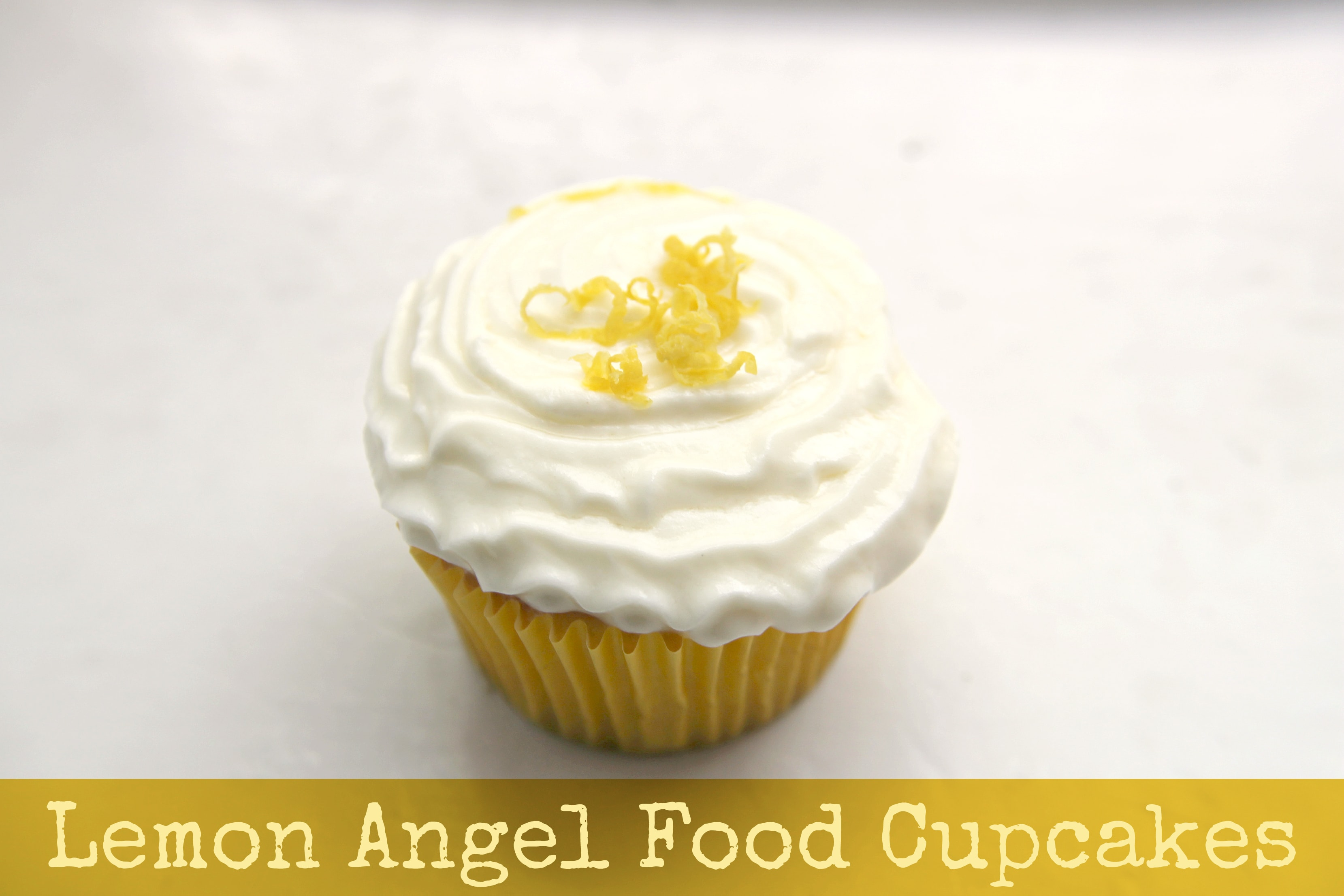 ... Stewart into a cupcake recipe to make these Lemon Angel Food Cupcakes