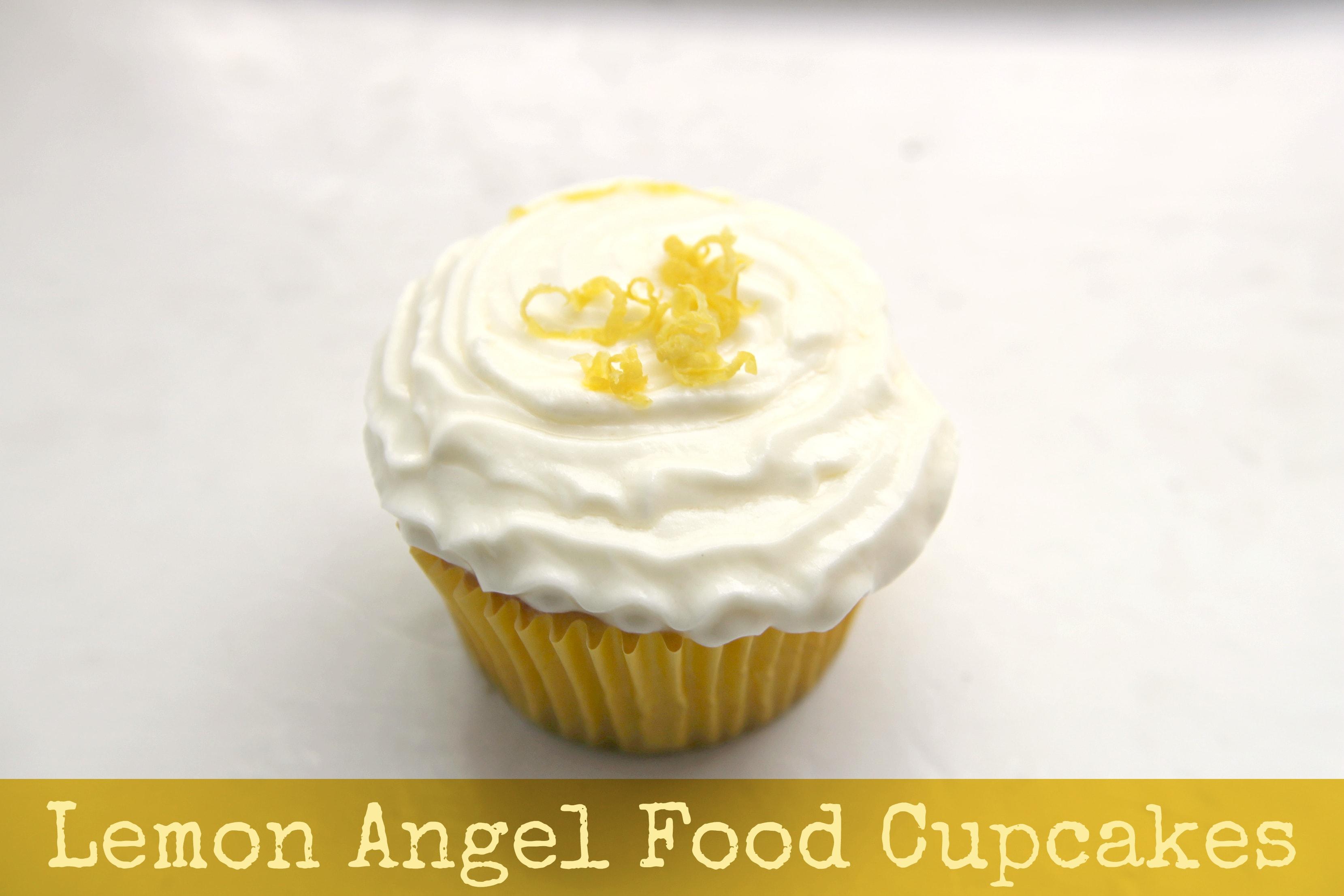 ... Stewart into a cupcake recipe to make these Lemon Angel Food Cupcakes