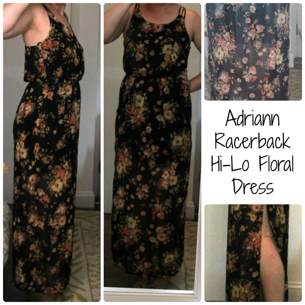 Adriann Racerback Hi-Lo Floral Dress