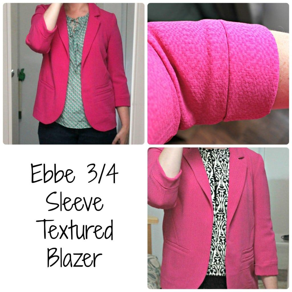 Ebbe 34 Sleeve Textured Blazer