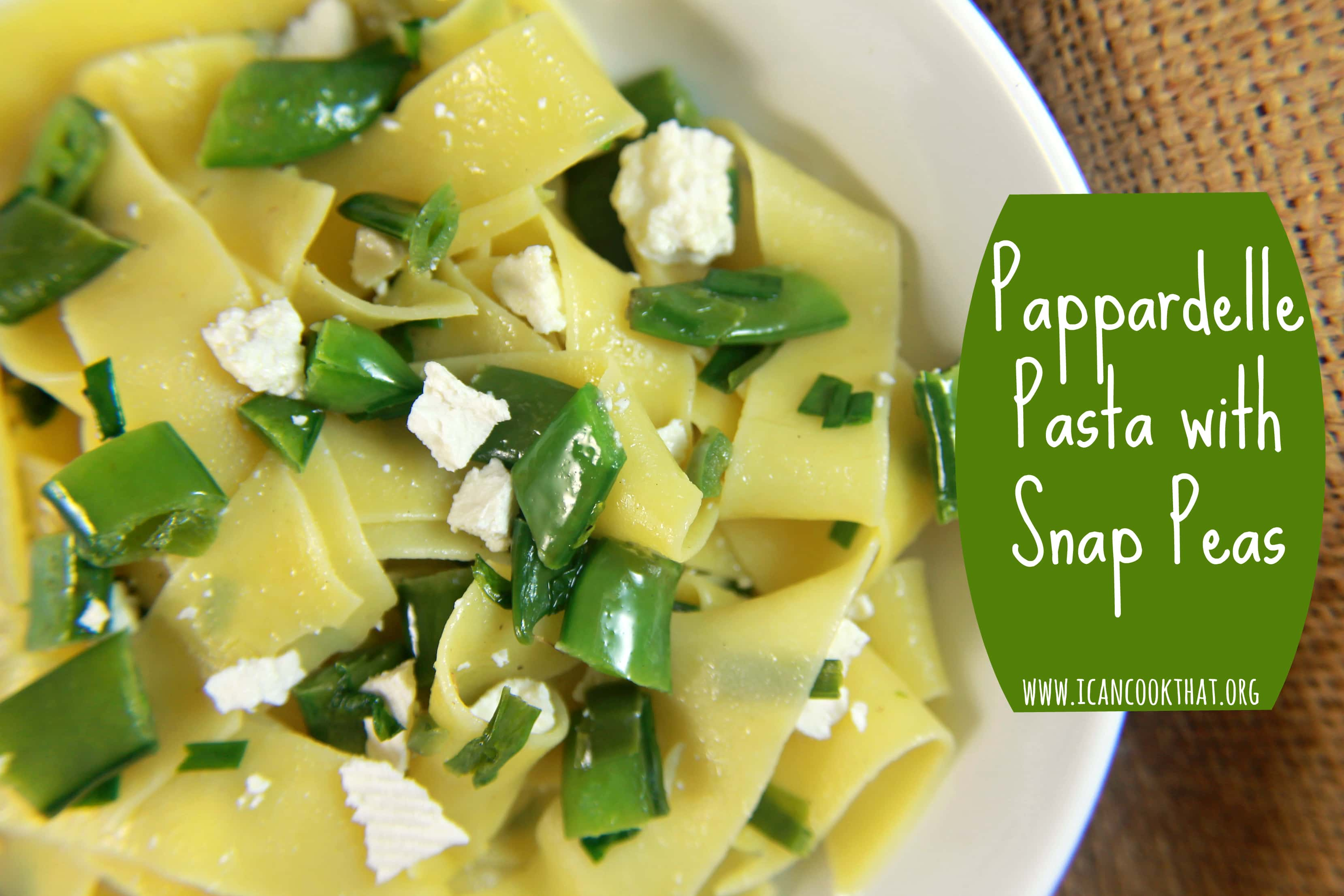Pasta with snap peas recipes