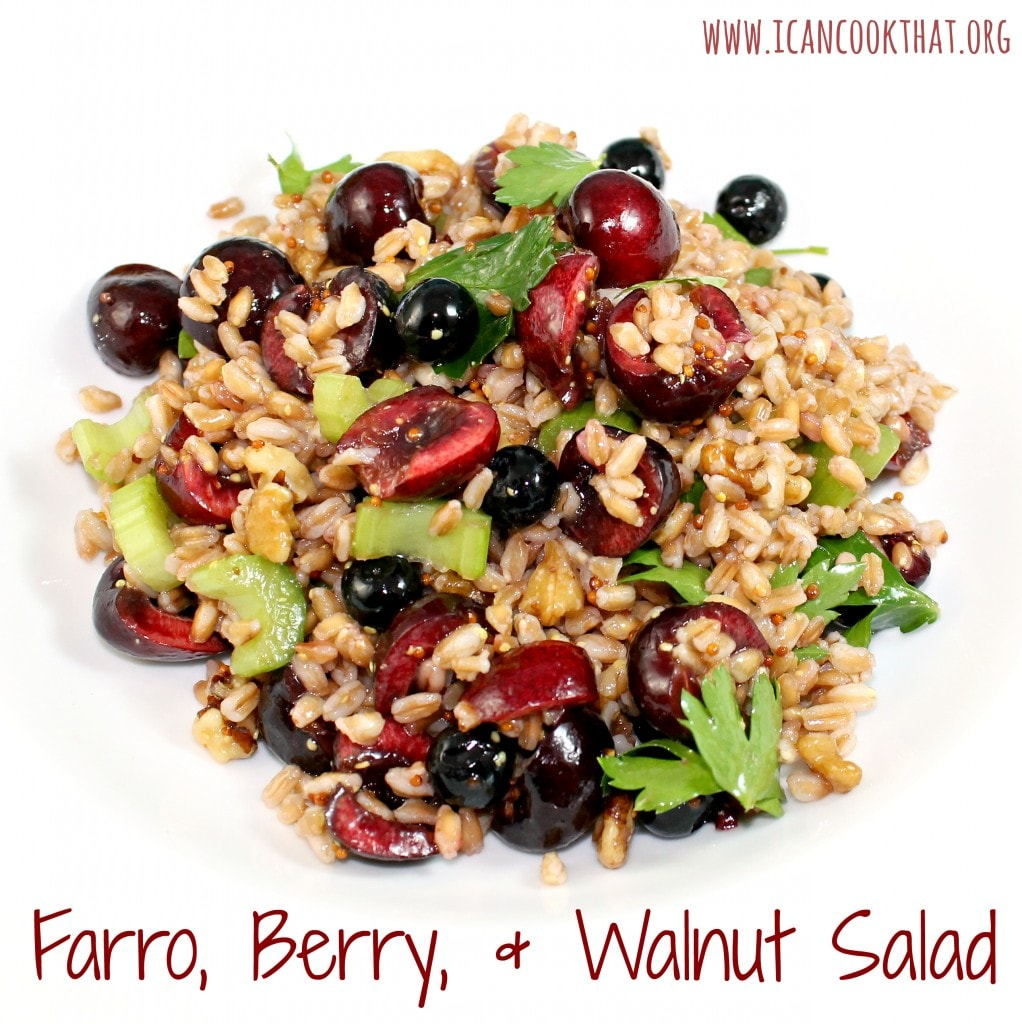 Farro, Berry, and Walnut Salad