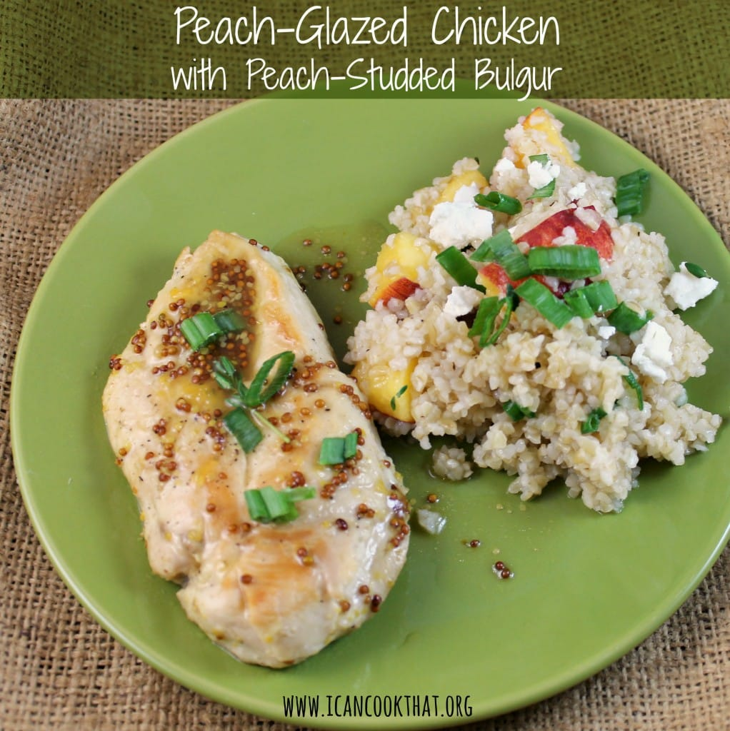Peach-Glazed Chicken with Peach-Studded Bulgur