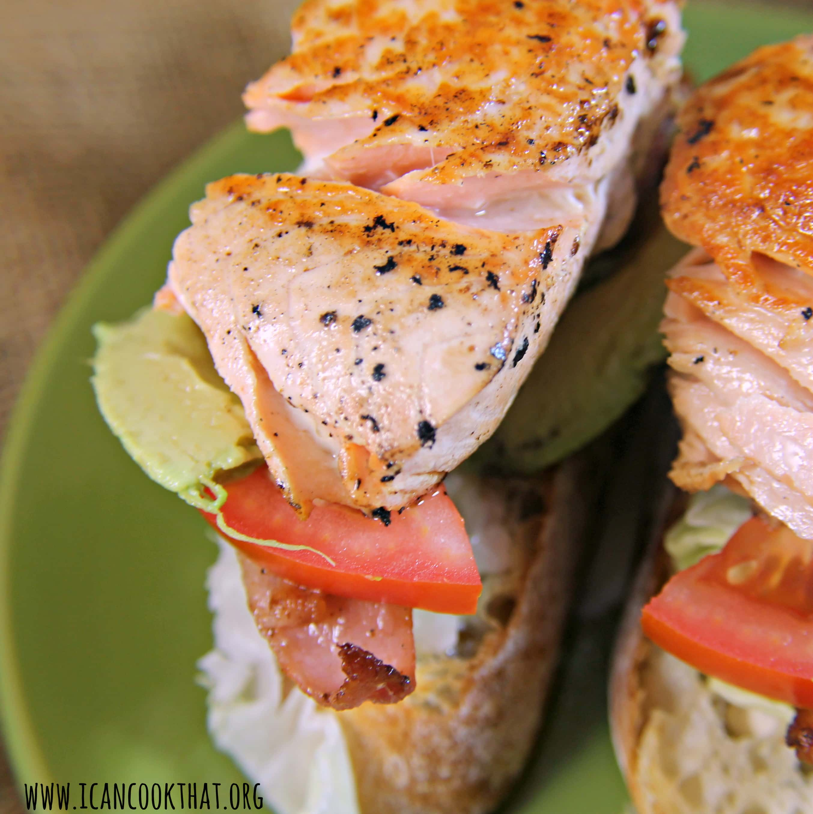 Open-Faced Salmon Sandwich With Sweet Mustard Sauce Recipe ...