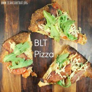 Bacon, Tomato, and Arugula (BLT) Pizza