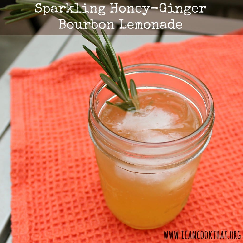 Sparkling Honey-Ginger Bourbon Lemonade Recipe | I Can Cook That | I ...