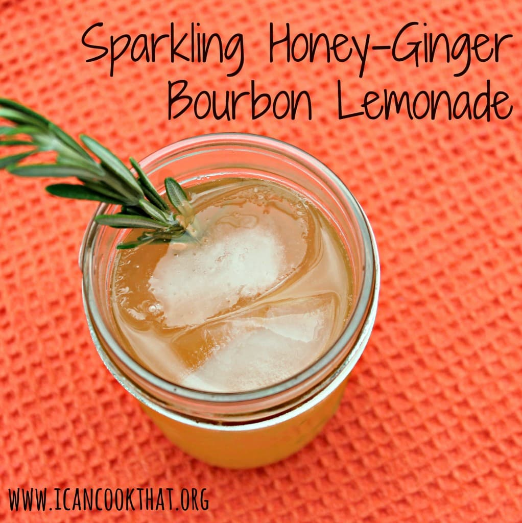 Sparkling Honey-Ginger Bourbon Lemonade