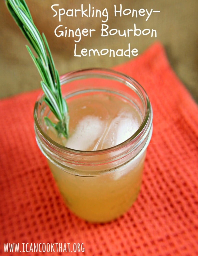 Sparkling Honey-Ginger Bourbon Lemonade Recipe | I Can Cook That | I ...