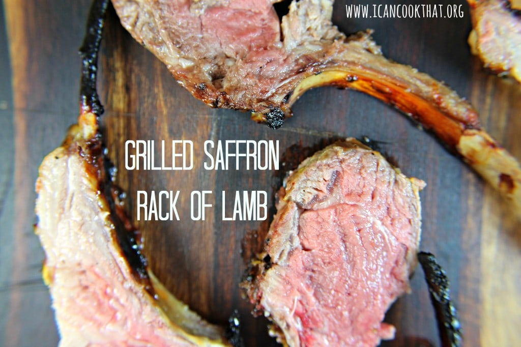 Grilled Saffron Rack of Lamb #VZWfoodies
