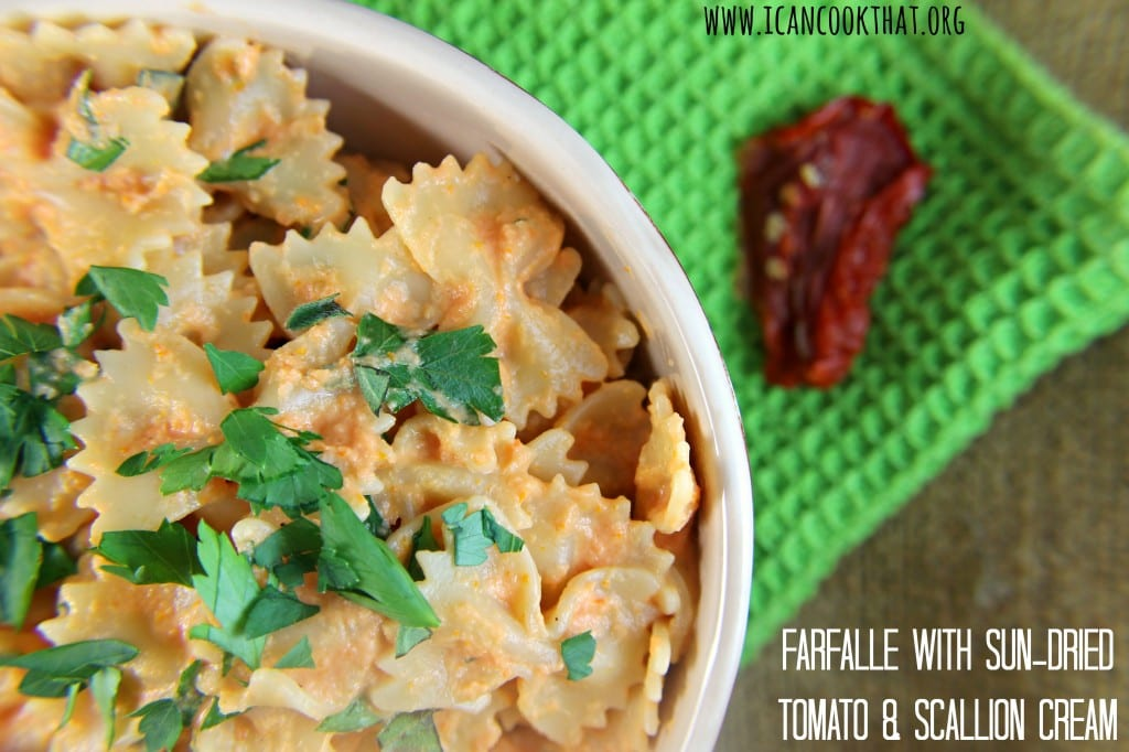 Farfalle with Sun-Dried Tomato and Scallion Cream